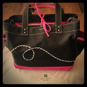 Kate Spade brown and pink diaper bag/large tote